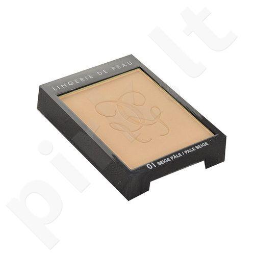 Guerlain Lingerie De Peau Nude kompaktinė pudra, kosmetika moterims, 10g, (testeris), (01 Pale Beige)
