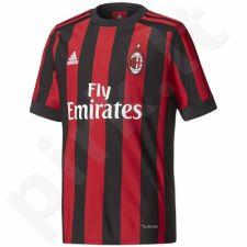 Marškinėliai futbolui Adidas AC Milan Home Replica Jersey Junior AZ7066