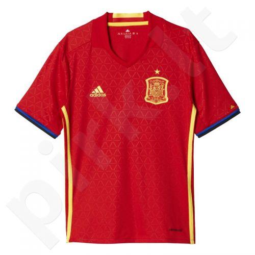 Marškinėliai futbolui Adidas Hiszpania Home Jersey Euro 2016 Replika Junior AA0850