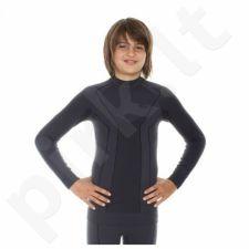 Marškinėliai termoaktyvūs Brubeck Thermo Junior LS11500 grafitowa