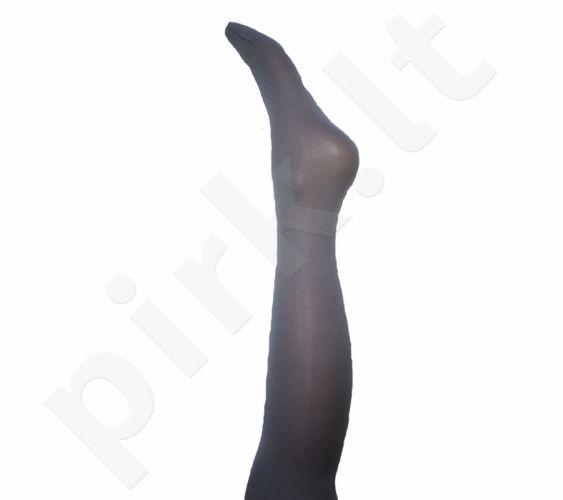Vienspalvės pilkos spalvos pėdkelnės iš mikrofibros 40 denų storio (dydžiai nuo 68 iki 158 cm)
