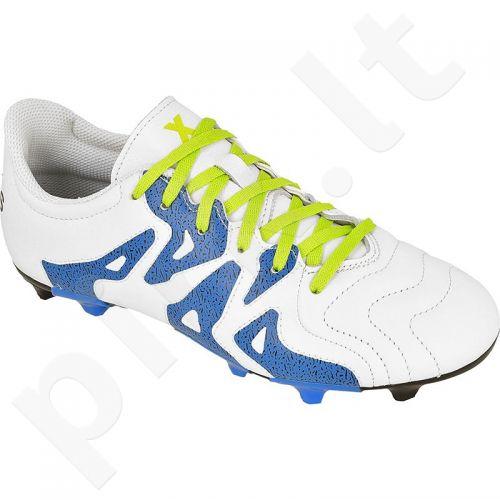 Futbolo bateliai Adidas  X 15.3 FG/AG Jr Leather S32059