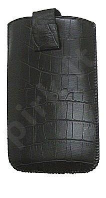 17-C MAGNET universalus dėklas i9100 Telemax juodas su krokodilo odos imitacija
