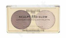 Makeup Revolution London Revolution PRO, Sculpt And Glow, makiažo paletė moterims, 4g, (Savanna Nights)