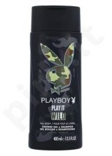 Playboy Play It Wild, dušo želė vyrams, 400ml