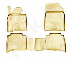 Guminiai kilimėliai 3D LEXUS LX450 2015->, 4 pcs. /L41025B /beige