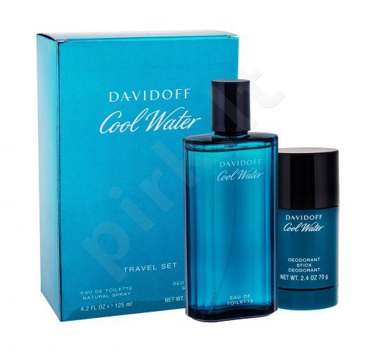 Davidoff Cool Water, rinkinys tualetinis vanduo vyrams, (EDT 125 ml + pieštukinis dezodorantas 75 ml)