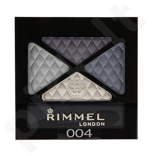 Rimmel London Glam Eyes Quad akių šešėliai, kosmetika moterims, 4,2g, (004 Smoke Blue)