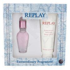 Replay Jeans Spirit! For Her, rinkinys tualetinis vanduo moterims, (EDT 20 ml + kūno losjonas 100 ml)