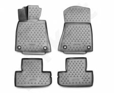 Guminiai kilimėliai 3D LEXUS RC 350 2015->, 4 pcs. /L41001G /gray