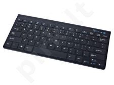 Gembird bluetooth slimline compact keyboard, black, US layout