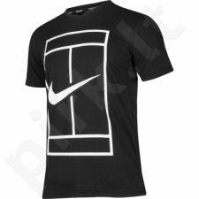 Marškinėliai tenisui Nike Court Dry Top Baseline M 848388-010
