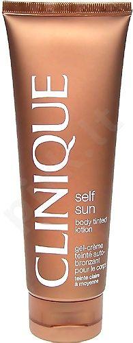 Clinique Self Sun Body Tined Lotion Medium/Deep, kosmetika moterims, 125ml