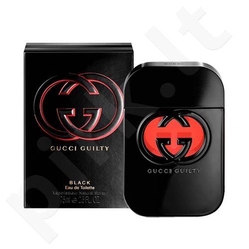 Gucci Guilty Black, tualetinis vanduo (EDT) moterims, 75 ml