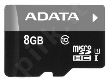 Atminties kortelė Adata microSDHC 8GB UHS1