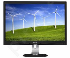Monitorius Philips 240B4QPYEB 24'' wide LED FHD, 5ms, D-Sub, DVI-D, DP, VESA
