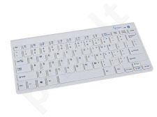 Gembird bluetooth slimline compact keyboard, white, US layout