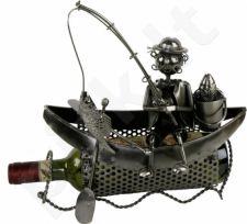 """Metalinis butelio laikiklis """"Žvejo valtis"""""""