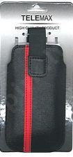 17-B VELCRO universalus dėklas S5830 Telemax juodas/raudonas