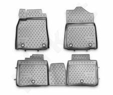 Guminiai kilimėliai 3D LEXUS ES 250/350, 300h 2012-> 4 pcs. /L41012G /gray