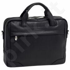 MCKLEIN Bridgeport 15475L, juoda išskirtinė iš natūralios odos rankinė , nešiojamam kompiuteriui 17