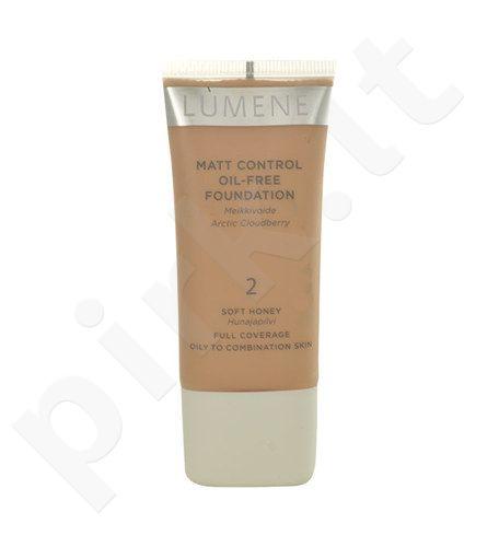 Lumene Matt Control Oil-Free Foundation, kosmetika moterims, 30ml, (2 Soft Honey)