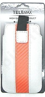 17-B VELCRO universalus dėklas i9100 Telemax baltas/oranžinis