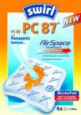 Maišeliai dulkių siurbliams SWIRL PC87/4 MP3 D.s. filtras
