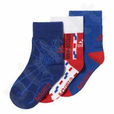 Kojinės Adidas Marvel Spiderman Socks Kids 3pak CD2696