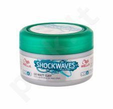 Wella Shockwaves, Go Matt Clay, plaukų vaškas moterims, 75ml