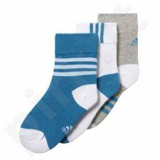 Kojinės Adidas Little Kids Ankle Socks Kids 3pak CD2988