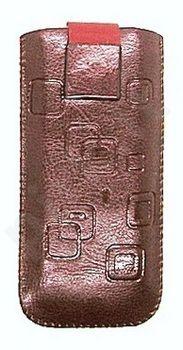 17 MAGNET SQUARE universalus dėklas N6700 Telemax šviesiai rudas