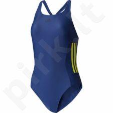 Maudymosi kostiumėlis Adidas Infinitex Essence Core 3-Stripes 1PC W BS0325