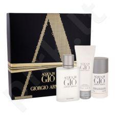 Giorgio Armani Acqua di Gio Pour Homme rinkinys vyrams, (EDT 100 ml + pieštukinis dezodorantas 75 ml + dušo želė 75 ml)