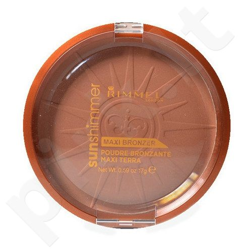Rimmel London Sun Shimmer Maxi Bronzer pudra, kosmetika moterims, 17g, (002 Sun Love)