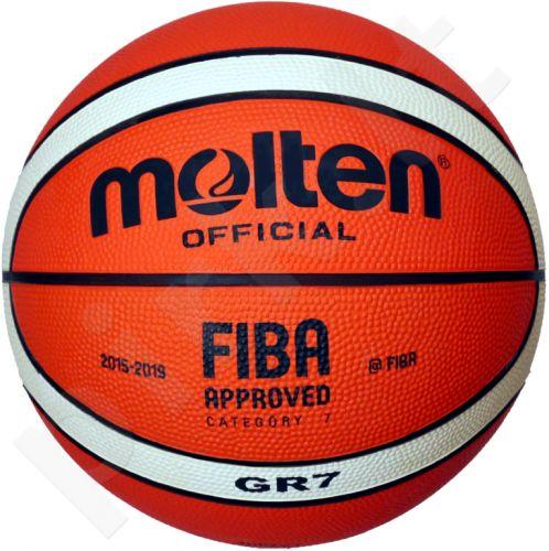 Krepšinio kamuolys rubber BGR7-OI orange/ivory