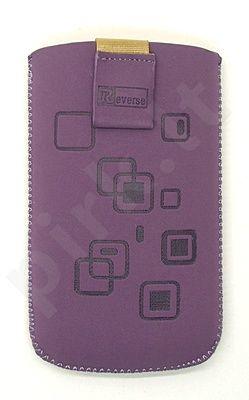 17 MAGNET SQUARE universalus dėklas C3 Telemax violetinis zomšas