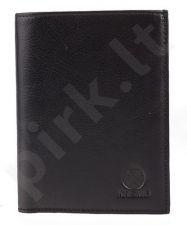 KRENIG Classic 12001 juoda  piniginė odinė , vyrams