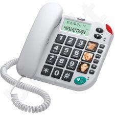 MaxCom KXT480BB laidinis telefono aparatas, baltas