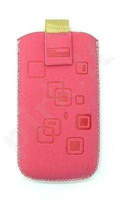 17 MAGNET SQUARE universalus dėklas GT505 Telemax rožinis zomšas