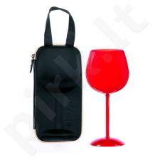 """Gigantiška vyno taurė """"Širdis"""" stilingame krepšyje"""
