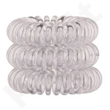 Invisibobble The Traceless Hair Ring, plaukų Ring moterims, 3pc, (Crystal Clear)