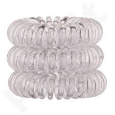 Invisibobble plaukų gumytė, kosmetika moterims, 3vnt, (Crystal Clear)