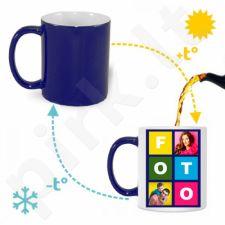 Magiškas mėlynas puodelis su Jūsų pasirinkta nuotrauka