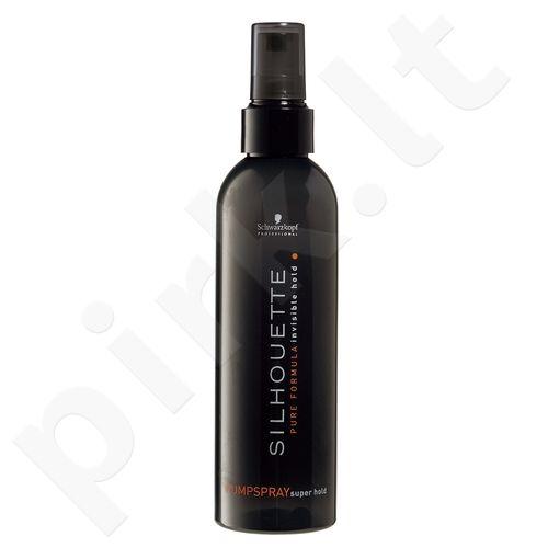Schwarzkopf Silhouette, Super Hold Pumpspray, plaukų purškiklis moterims, 200ml