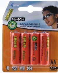 Baterijios i-Tec 4xAA Ni-MH 2800mAh
