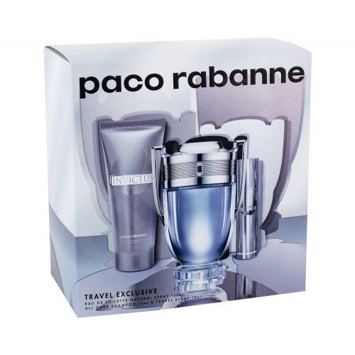 Paco Rabanne Invictus, rinkinys tualetinis vanduo vyrams, (EDT 100 ml + EDT 10 ml + dušo želė 75 ml)