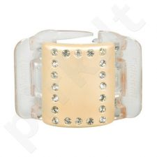 Linziclip Midi Hair Clip, kosmetika moterims, 1vnt, (Linen Pearl Crystal)