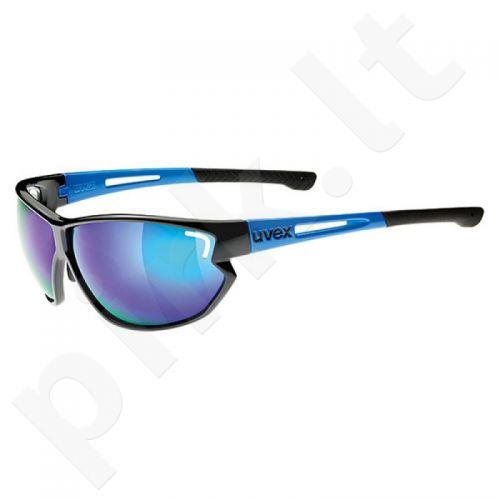 Akiniai Uvex Sportstyle 810 juoda-mėlyna