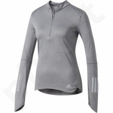 Marškinėliai bėgimui  Adidas Response 1/2 Zip Long Sleeve Tee W B47695
